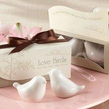 Подарок на свадьбу и раздаточный материал для гостей- керамические любовь птицы соль и перец шейкеры праздничный Сувенир 1 комплект