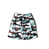 Men Beach Shorts Masculino Camo 2018 Summer Thin Section Breathable Mesh Comfort Casual Knee Length Loose