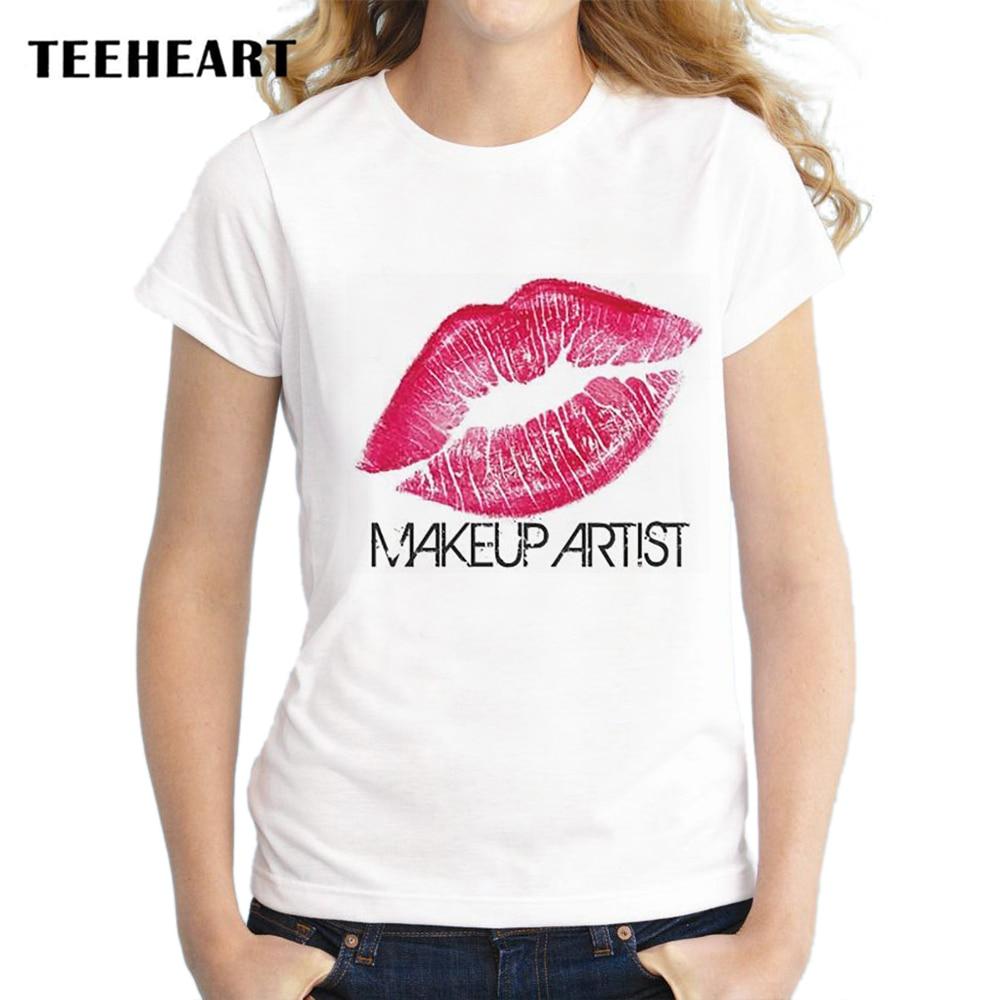 Design t shirt en ligne - Teeheart Femmes De Mode Rouge L Vres Conception T Shirt Pour Les Femmes Nouveaut Tops