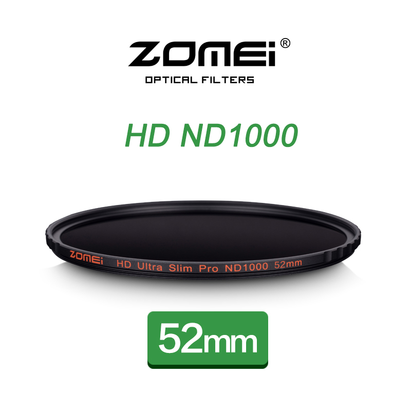 ZOMEI 52mm ND1000 Filter Pro 10 Stop HD MC Optical Glass Neutral Density ND 3.0 1000 Filter For Canon 50mm Nikon 18-55mm DSLR цена 2017