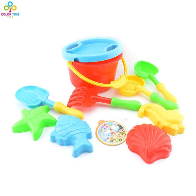 O bebê Caçoa Conjunto de Brinquedos Praia de Areia de Dragagem Ferramenta Balde de Praia Bebê Brincar Com Areia Água Brinquedos