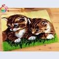 Милые кошки крестиком наборы Защелки крюк ковер наборы вышивка коврик для лестницы маты нитки стежка ковер вышивка пряжа для вязания