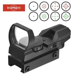 Wipson caça escopos óptica red dot sight 20mm ferroviário sniper pistola airsoft armas de ar reflex rifle escopos vista holográfica