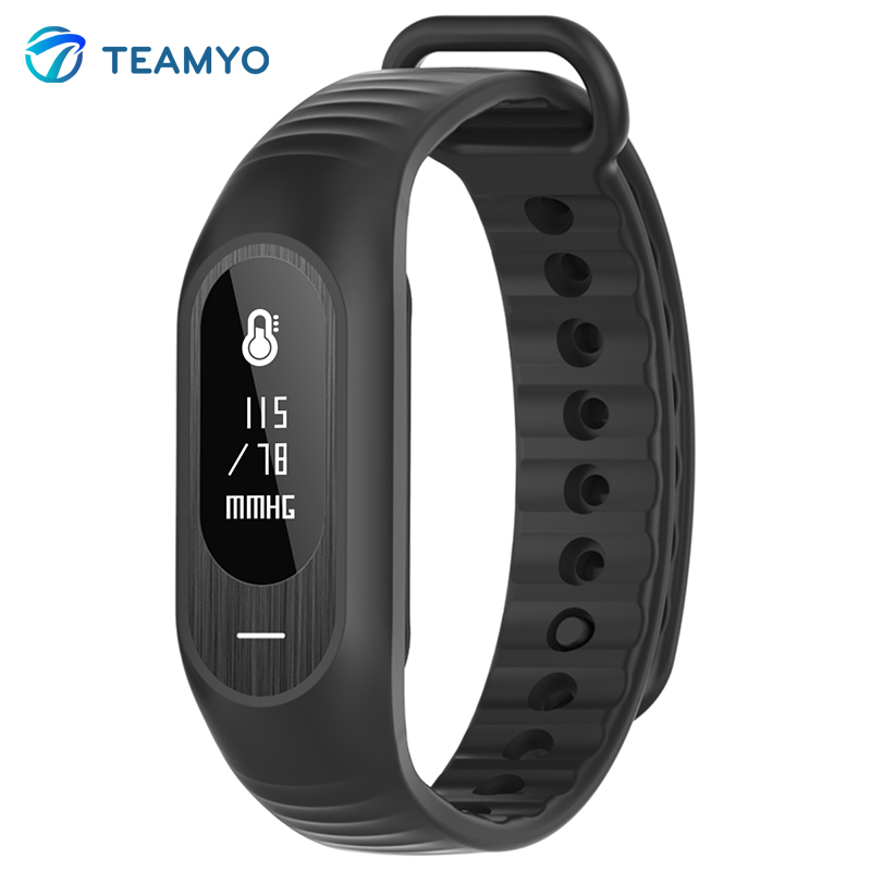Teamyo Sport Fashion Smart Bracelet Blood Pressure Heart Rate Monitor Pedometer Call Reminder Bluetooth for Andriod