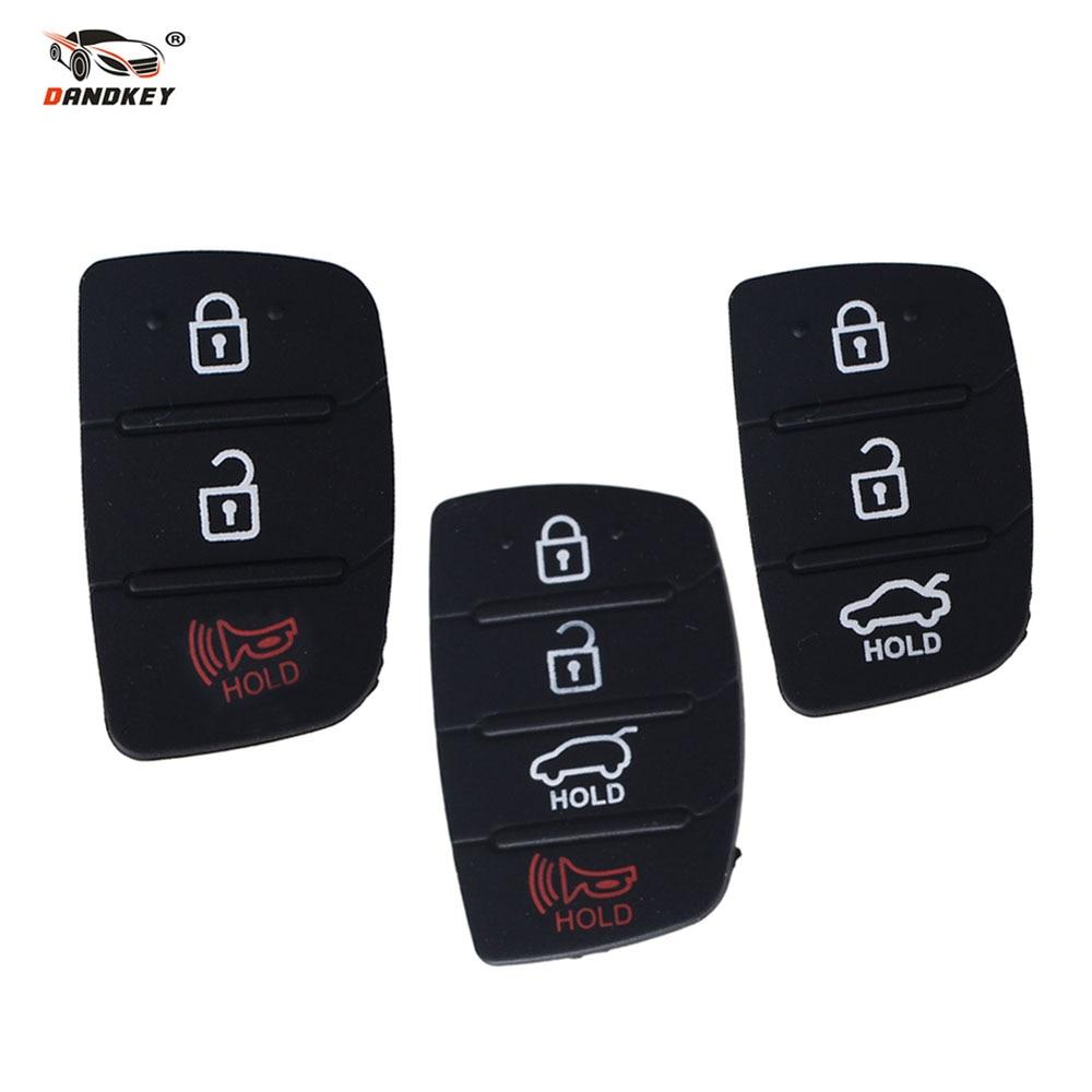 Dandkey 3 4 Buttons Silicone Car Key Cover Case Rubber Padbutton For Hyundai I30 i35 iX20 Solaris Verna Kia RIO K2 K5 Sportage maizhi 3 buttons silicone car key cover case rubber padbutton for hyundai i30 i35 ix20 solaris verna kia rio k2 k5 sportage