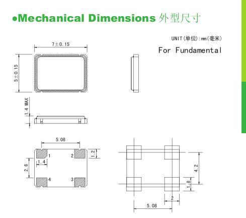 10pcs SMD Oscillateur 127 MHz 127 M 7050 5070 7 MM x 5 mm 3.3 V 5 V