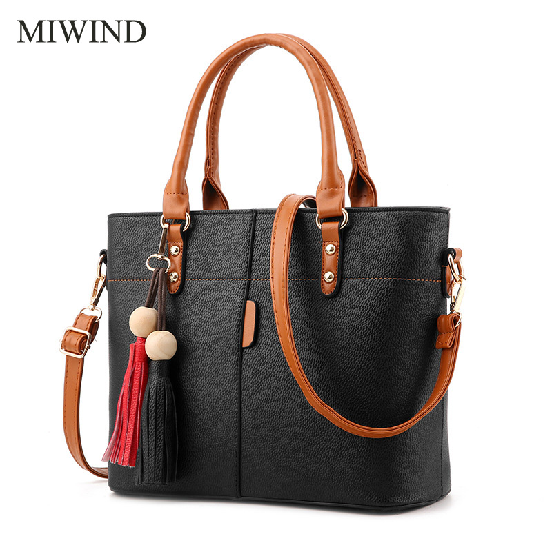 2017 MIWIND Free Shipping 5 Colors Fashion Lady Shoulder Bag High Quality PU Leather Women Handbag Casual Tote Bag WULY001 quality pgm golf bag clothing bag handbag waterproof pu shoulder bag multifunction women s clothes shoes handbag free shipping