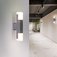 Modern 220v 110v IP44 LED Outdoor Wall Lighting Lamp Sconce Waterproof for Street Indoor Outside Home Porch Gate Garden