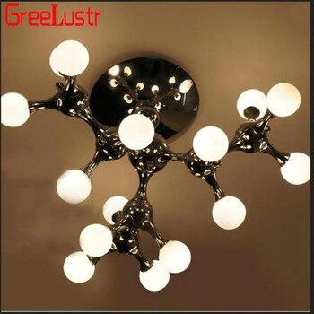 3/5/9 đầu, trắng hoặc màu CHROME/tay thổi kính mặt dây chuyền ánh sáng/E14 Chân đế đèn đặc biệt các phân tử DNA Thiết kế phòng khách