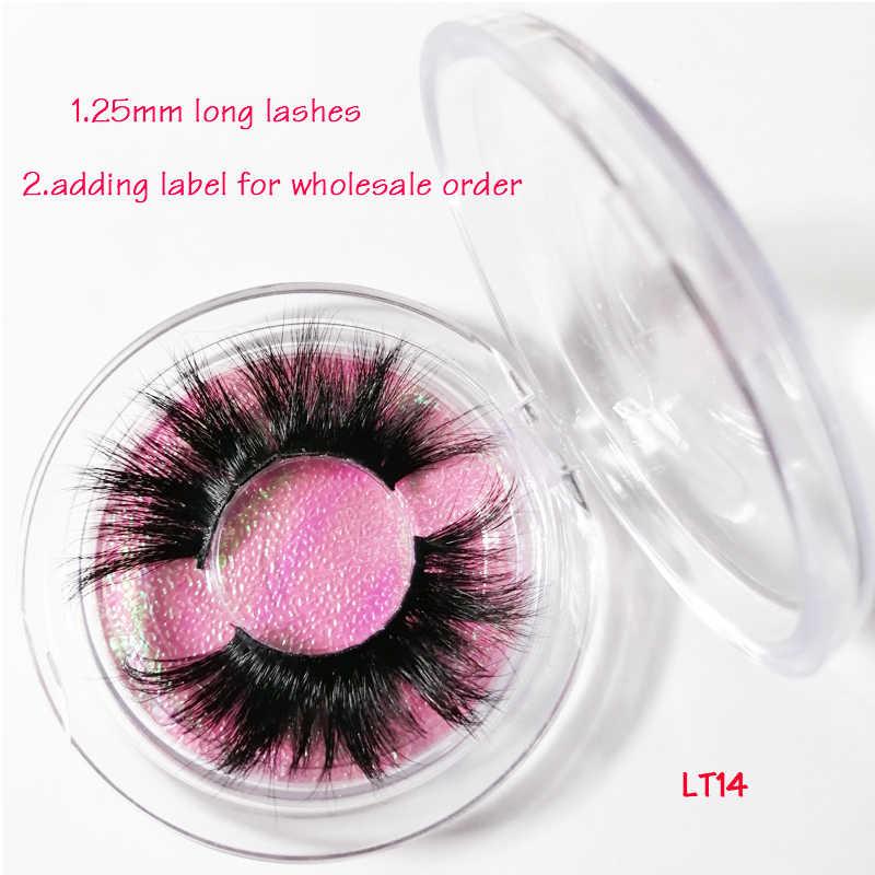 25mm eyelashes glitter custom eyelash packaging box mink