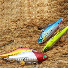 4PCS fishing Lure VIB Bait 21g 73mm Fresh Salt Water Metal Vibration Lead Fish Jigs Artificial Lures