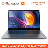 Xiaomi ordinateur portable portable Pro 15.6 Intel Core I5/I7 8G/16G ram 256GB ssd Windows 10 2G DDR4 2400 1920x1080 reconnaissance d'empreintes digitales
