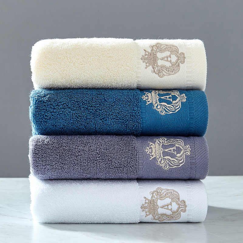 2 יח'\סט מיקרופייבר אלגנטי רקום מגבת סט מוצק 1pc פנים מגבת 1pc אמבטיה מגבת מהירה יבש מגבות אמבטיה למבוגרים