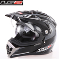 Free Shipping Ls2 cross helmet  dual lens cross helmet airbag the off-road motorcycle helmet MX455
