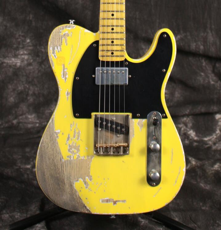 Coréen usine Fait Main professionnel Relique 1962 FD électrique TL guitare pontets en laiton corps EN FRÊNE âgés matériel nitrolacquer finition