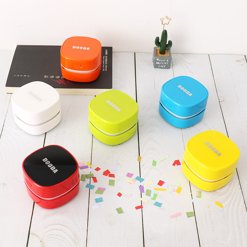 TUTU Desk Set Portable Desktop Cleaner Mini Desk Recharge Vacuum Cleaner For School Classroom Office Office School Supplie H0278