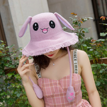 New Fisherman bunny ears cap moving ears orejas que se mueven Headband will move rabbit ears headband orejas que se