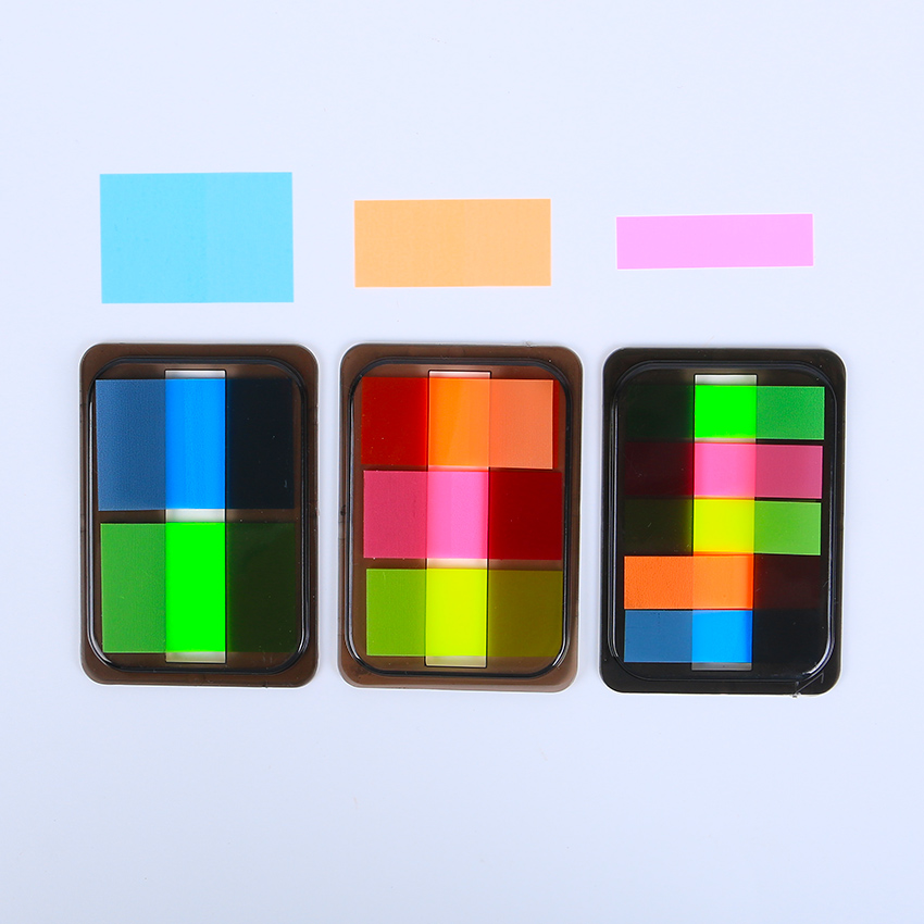 3PCS Self Adhesive Memo Pad Sticky Cute Candy Color Sticky Notes Post It Bookmark Point It Marker Memo Sticker Paper Escolar