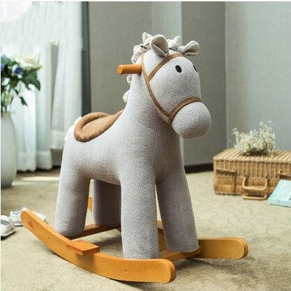Троян ребенок лошадка-качалка baby детские игрушки деревянный качалка Лошадка Музыка