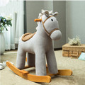 Trojan child rocking horse baby baby toy wooden rocking chair Rocking Horse Music