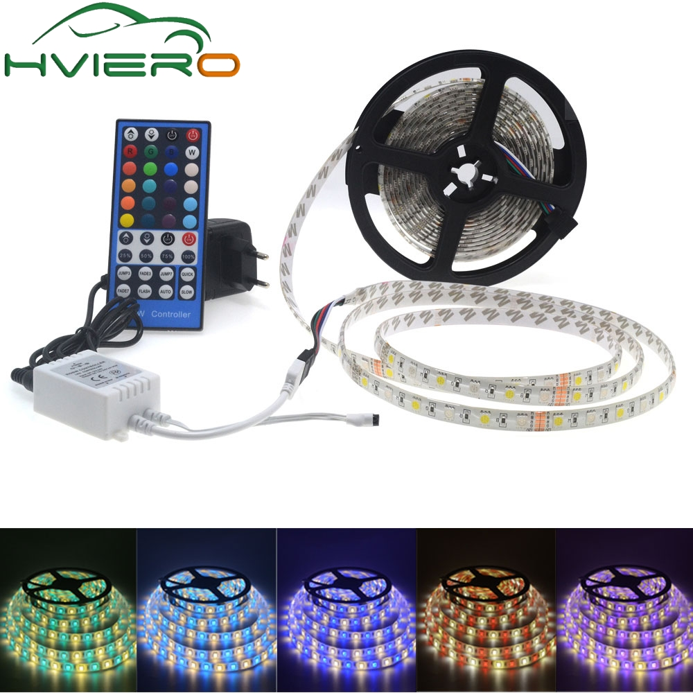 5m 5050 DC 12V 5M RGBW/RGBWW LED Strip Waterproof/Non Waterproof Light Flexible with 3A Power and Remote Controller full set led strip white 5630 non waterproof 300 led 5m ribbon with remote controller 12v 3a power supply for home desk decoration