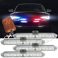 Беспроводной удаленного 4x6/мигающий светодиод скорой помощи полиции световые сигнальные лампы для аварийный для автомобиля грузовика огни...