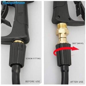 Image 3 - Sooprinse шарнирное соединение для мойки высокого давления, не требующий шлангов пистолет, метрическое соединение против закручивания M22 14 мм 3000 PSI 2020