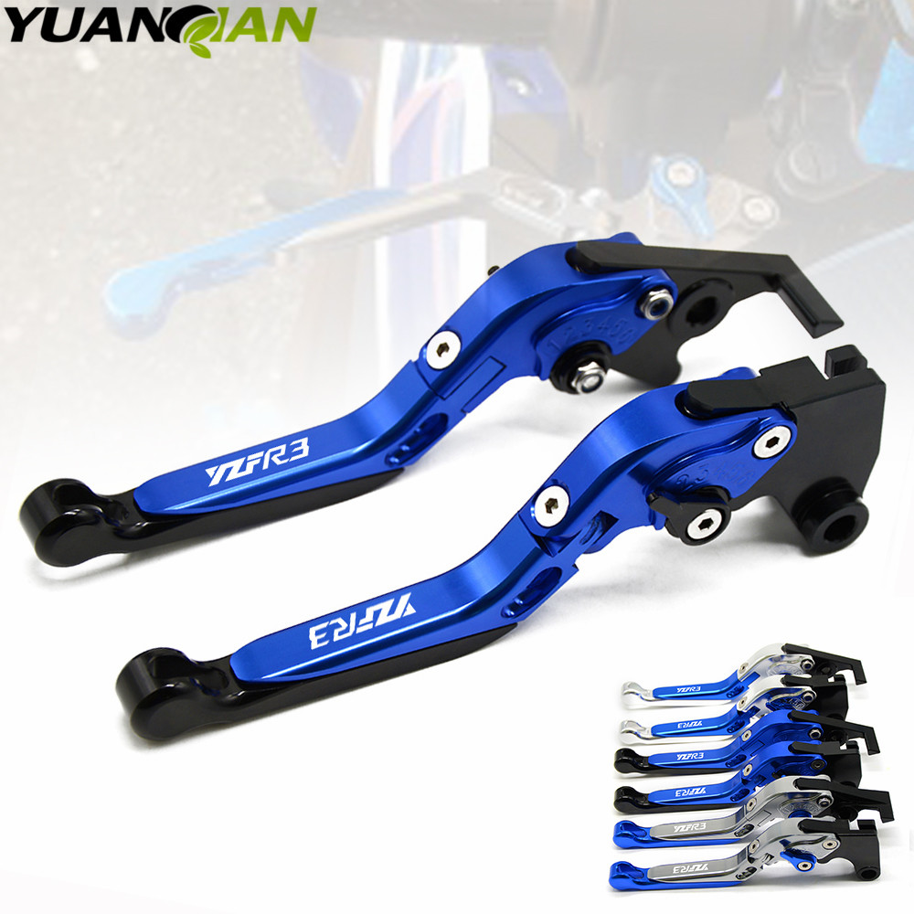 Motorcycle Accessories Handlebar CNC Clutch Brake Levers For Yamaha YZF R3 YZFR3 2015 2016 2017 Brake Lever Clutch Handle for yamaha yzf r125 yzfr125 2014 2015 2016 motorcycle accessories cnc aluminum adjustable short brake clutch levers blue