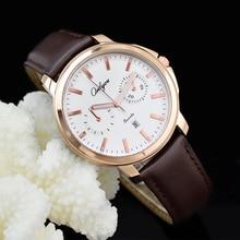 Onlyou Marca del Movimiento de JAPÓN Miyota Reloj de Cuarzo hombres de Negocios Informales de Cuero Reloj Análogo de Los Hombres Relojes de Pulsera de Reloj Masculino 81073