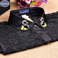 Moda Laço de Diamantes das Mulheres Falso Colarinho Da Camisa de Colarinho Falso das Mulheres Por Atacado E Retial