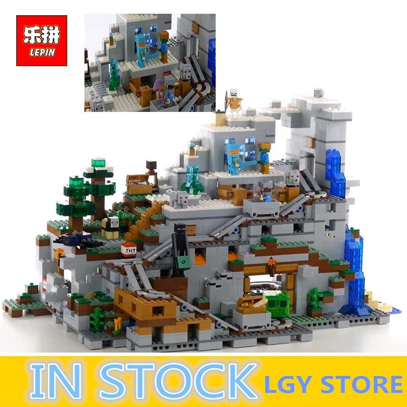 LEPIN 18032 La Montagne Grotte Ensemble Kit de Construction Blocs Briques Mon mondes Clone legoings 21137 d'anniversaire cadeaux pour Enfant
