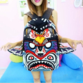 IVI Hot sale New Arrival Fashion Backpack Handwriting Wings Female Tribe Monster face Cartoon Teenagers Bags Unique school bags