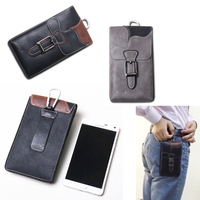 Leather Hook Loop Belt Clip Mobile Phone Case Dual Pouch For Asus Zenfone 5 Oukitel U13