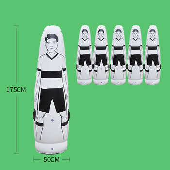 High Quality Boxing Sandbag Inflatable Tumbler Football Training Goal Keeper Tumbler Children & Adult Air Soccer Dummy Mannequin