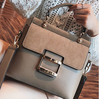 Women Crossbody Bag Classic Lady Frosted PU Leather Stitching Shoulder Tote Bag New
