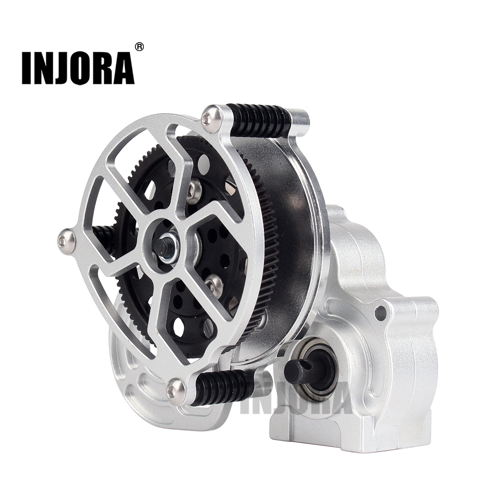 1:10 RC Crawler Silver All Metal Transmission / Center Gearbox for 1/10 Axial SCX10 Gear Box Parts truck transmission parts gearbox speed sensor wg2209280010 for sinotruck howo