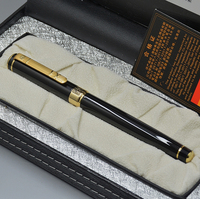 High Quality Picasso Brand Black Metal Fountain Pen School Office Stationery Luxury Writing Gift Ink Pens