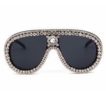 4f1bc558c6b Oversized Sunglasses Women Luxury Brand Designer Bling Rhinestone Vintage  Sunglasses Female Shades Big Frame Sun glasses