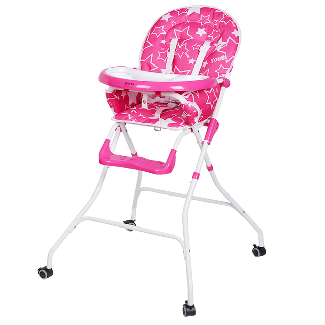 Portable Multifunctional Baby High Chair Folding Children Baby Dining Chair Plastic Tables Chairs Newborn Baby Feeding Chair C01