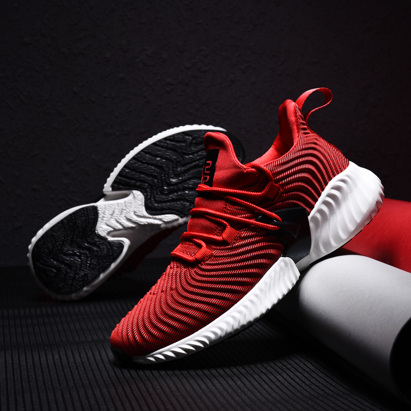 2018 de alta calidad zapatillas de deporte de los hombres de otoño nueva amortiguación Zapatos de deporte de los hombres negro rojo gris hombre adulto zapatos para Hombre