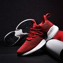 2019 Высокое качество Мужские кроссовки со шнуровкой осень новая амортизирующая спортивная обувь мужские черные красные серые мужские взрослые кроссовки для мужчин