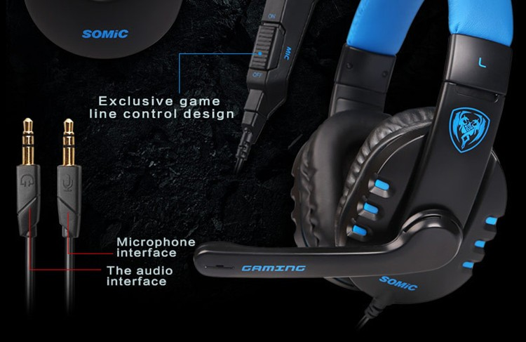 Pro Gaming Headphones Somic G923 Casque Computer Game Gamer Headset With Microphone Stereo Head Phones Hot Sale (1)
