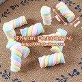 solid clay Marshmallows Skittles clay 20pcs 25*10mm mixed kawaii cabochon home