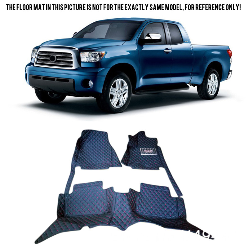 for Toyota Tundra 2007-2015 Interior Auto Custom Waterproof Car Styling Front & Rear Floor Mats Full Set