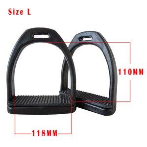 Image 2 - 1 paar Kunststoff Pferd Sattel Englisch Steigbügel Pferd Reiten Doppel Verbunden Steigbügel Sicherheit Horse Racing Fuß Ausrüstung oder Männer Frauen