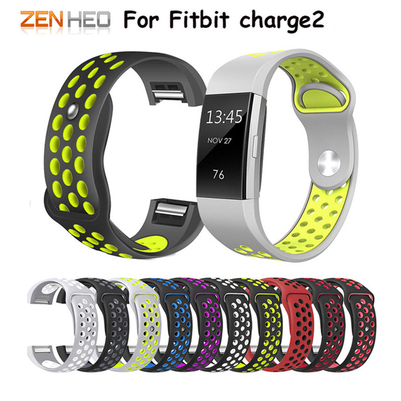 Band-Wrist-Strap Smart Wristband Fitbit-Charge 2-Bracelet Colorful-Band Silicone 2-Sport