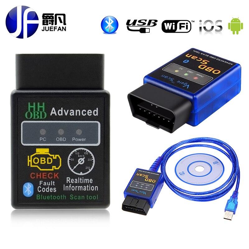 Цена за Высокое качество ELM327 Bluetooth с USB OBD2 диагностики авто ELM 327 Bluetooth OBD iisupport Все OBDII протоколы Multi-Язык