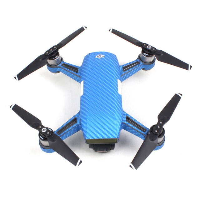 Sunnylife Waterproof PVC Carbon Graphic Spark Drone Stickers Camouflage Decals Body Battery Skin For DJI