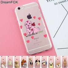 Здесь можно купить   K282 Dog Soft TPU Silicone  Case Cover For Apple iPhone 7 6 6S Plus 5 5S SE 5C 4 4S Mobile Phone Accessories & Parts