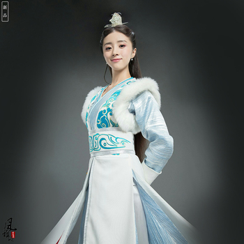 Empress Wen Xian DuGu Jia Luo Swordlady Hanfu Costume for TV Play The Legend of DUGU Drama Stage Performance